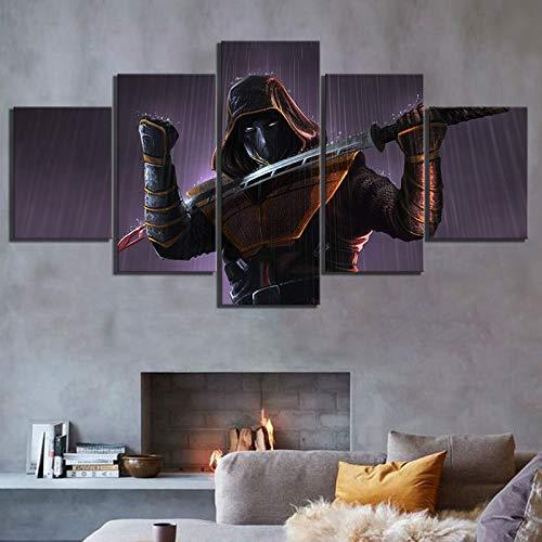 fenshop 5 Unidades. HD Digital Art Foto Ninja Poster Krieger ...