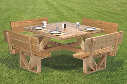 The Winfield Collection Woodworking Plan For A Square Picnic Table