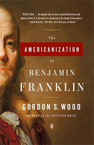 Book cover for The Americanization of Benjamin Franklin