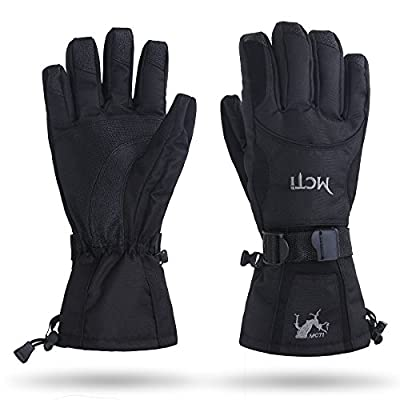 MCTi Waterproof Men's Winter Warm Thermal Snow Ski Snowboarding Zipper Pocket Gloves