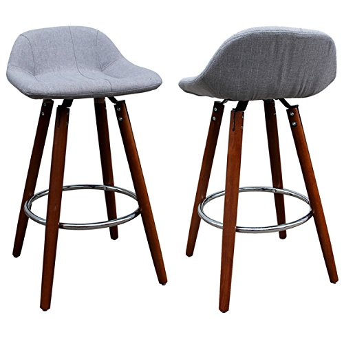 barstool set of 2 203119gy grey walnut 26inch counter stools counter height bar stools in modern look
