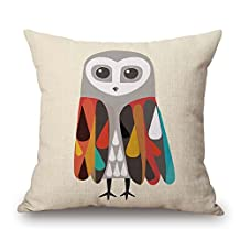Bird Pillow Shams Best For Bar Seat Office Play Room Teens Boys Floor Gf 16 X 16 Inches / 40 By 40 Cm(two Sides)