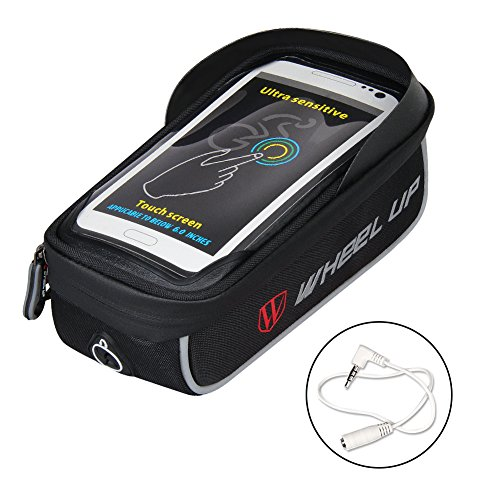 Buy Discount WATERFLY Bike Bag Frame Bike Bag with Waterproof Touch Screen Bicycle Handbar Front Pho...