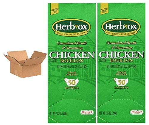 Hormel Herb Ox Chicken Bouillon 50 Packets (Case of 2)