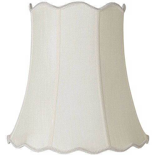 Imperial Creme Scallop Bell Lamp Shade 12x18x18 (Spider) - Imperial ()