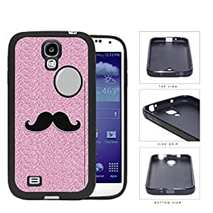 Pink Glitter Mustache Trend Rubber Silicone TPU Cell Phone Case Samsung Galaxy S4 SIV I9500