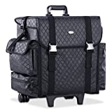 Professional Makeup Cosmetic Carry Case w/ 8 Removable Organizer Drawers and Brush Holder Soft-sided Nylon Fabric