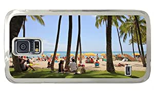 Hipster customizable Samsung Galaxy S5 Case hawaii waikiki beach PC Transparent for Samsung S5