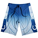 KLEW 2015 NFL Football Mens Gradient Swimsuit Board Shorts - Pick Team (Indianapolis Colts, 30)
