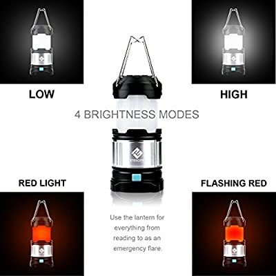 Etekcity 2 Pack Rechargeable LED Camping Lantern Flashlights & 4400mah USB Power Bank