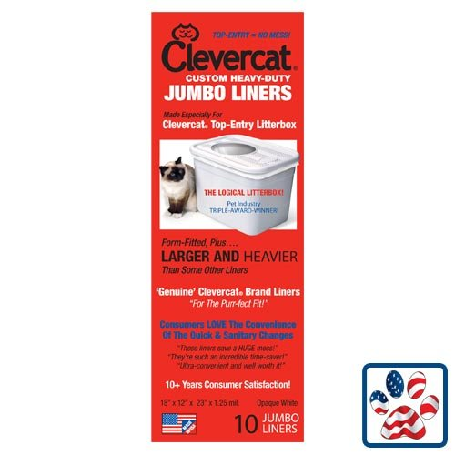 Clevercat Jumbo Liners for Clevercat Top Entry Litter Box 10-Pack