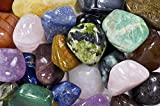 Fantasia Materials: 2 lbs Premium Brazilian Tumbled Polished Natural Stones Assorted Mix - XXLarge - 1.75'' to 2.75'' - Bulk Polished Gemstone Supplies for Crafts, Reiki, Wicca, Chakra & Crystal Healing