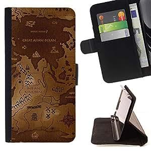 Momo Phone Case / Flip Funda de Cuero Case Cover - Mapa del Mundo Antiguo;;;;;;;; - Samsung Galaxy S5 Mini, SM-G800