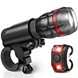 Vont Bike Light, Comes with Free Tail Light, Bicycle Light Installs in Seconds Without Tools, Powerful Bike Headlight Compatible with: Mountain, Kids, Street, Bikes, Front and Back Illumination