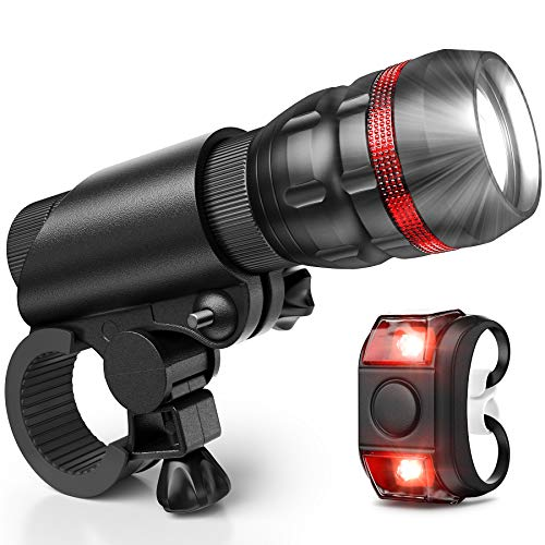 Vont Bike Light, Comes with Free Tail Light, Bicycle Light Installs in  Seconds Without Tools, Powerful Bike Headlight Compatible with: Mountain,  Kids,