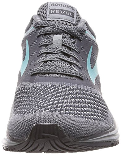 Brooks Mujeres Revel Grey / Ebony / Teal Green