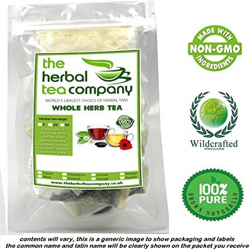 Organic Comfrey Root 100% Pure Herb Tea Bags With A Hint Of Mint 25 Pack