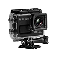 Official SJCAM® SJ6 Legend WiFi Action Camera (Black), 2K 1080P, 30M Waterproof, Touchscreen, Metal Body, Gyro Stabilization, Time Lapse & Slow Motion, Car Dashcam FPV
