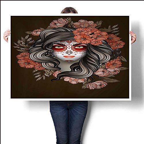 Woman with Calavera Makeup Day of The Dead (Dia de Los Muertos) conceptwallsbathroom32