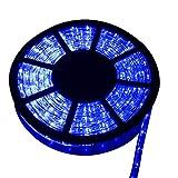 Ainfox LED Rope Light, 50Ft 540 LEDs LED Strip Lights Indoor Outdoor Waterproof Decorative Lighting Kit (Blue)
