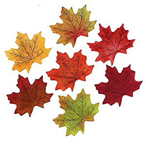 Artificial Maple Leaves Fake Autumn Fall Leaf Wedding Party Home Decoration Craft Scrapbooking Decor 250 Pieces 9