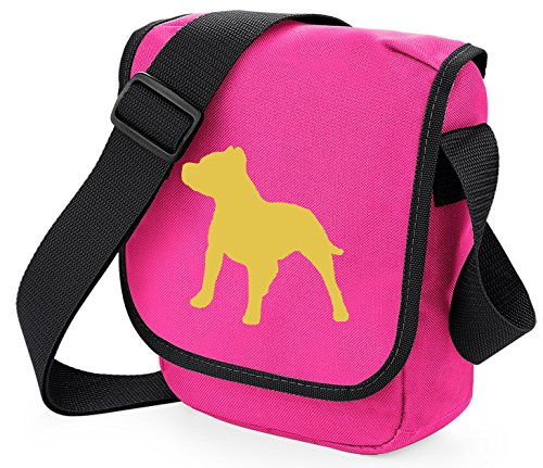 Choice Reporter on Shoulder Fawn Bag Terrier Bull Pink Mini Staffie of Bag Staffy Staffordshire Dog Gift Colours Zpxnq