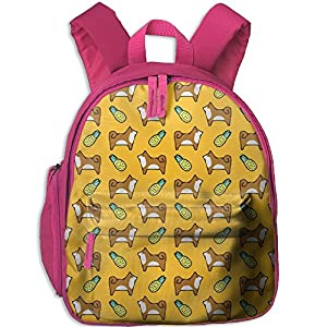 Pineapple Shiba Inu Toddler Kids Backpack Preschool Backpack Pink Mini Backpack