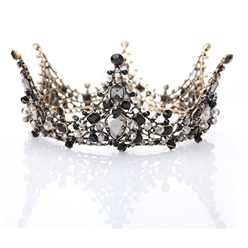 Chicer Vintage Baroque Crown Tiara Wedding Rhinestone Queen Tiara Accessories for Women and Girls . (Style B) by Chicer