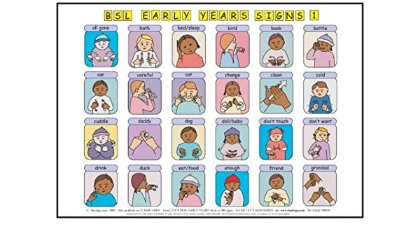graphic relating to Baby Sign Language Printable referred to as Enables Indicator BSL Early Yrs Boy or girl Signs and symptoms: Poster/Mats A3 Fastened