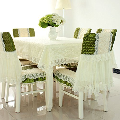 Country style green lace rectangular dining tablecloths 43
