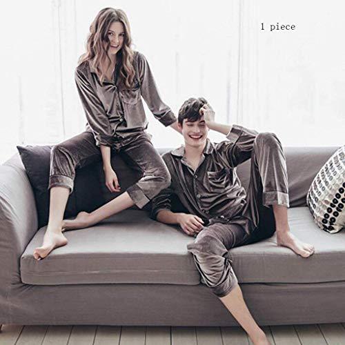 Accappatoio maschio Accappatoio XQY manica per pigiama Amanti e Cotone casa poliestere con Grande Grigio lunga Top tasche autunno pigiami 100 la fibra Femmina inverno Comodi in Acquista addensato 1qfrnxz1Pw
