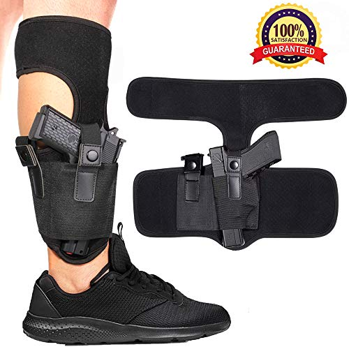EnriQ Ankle Holsters for Concealed Carry,Fit Small Frame Gun Holsters Concealed with Magazine Pouch Holsters for Glock 23,26,42,43,SR9C S&W M&P Bodyguard.380,Ruger P22 380 LCP,LC9.