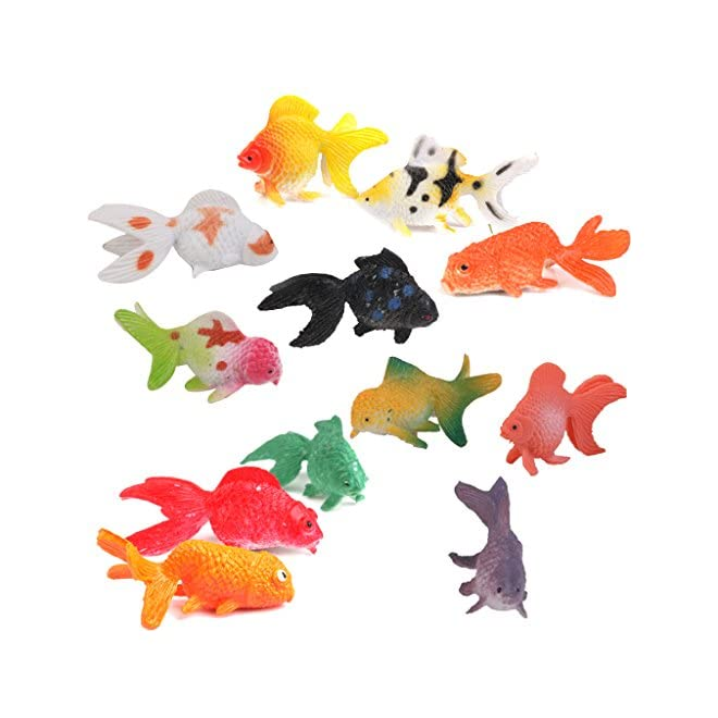 lot de 12pcs mini poisson rouge en plastique figurine miniature jouet color le magasin de jouets. Black Bedroom Furniture Sets. Home Design Ideas