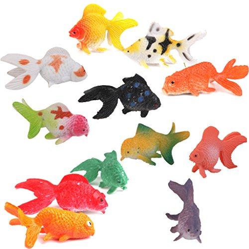 Lot de 12pcs mini poisson rouge en plastique figurine for Prix poisson rouge maxi zoo