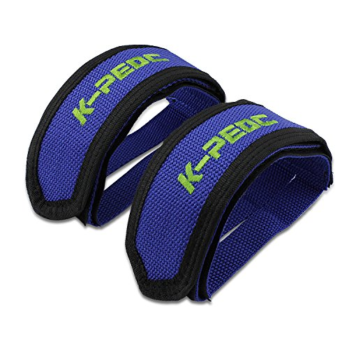 PsmGoods 1 Paar Fixed Gear Fixie BMX-Fahrrad-Doppelklett Pedal Toe Clip Straps (blau)