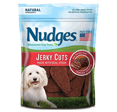 Nudges Steak Jerky Dog Treats, 18 oz by Nudges