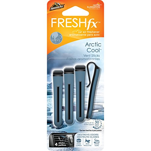 Armor All 18544 FRESH fx Car Air Freshener Vent Sticks Arctic Cool Scent 4 -