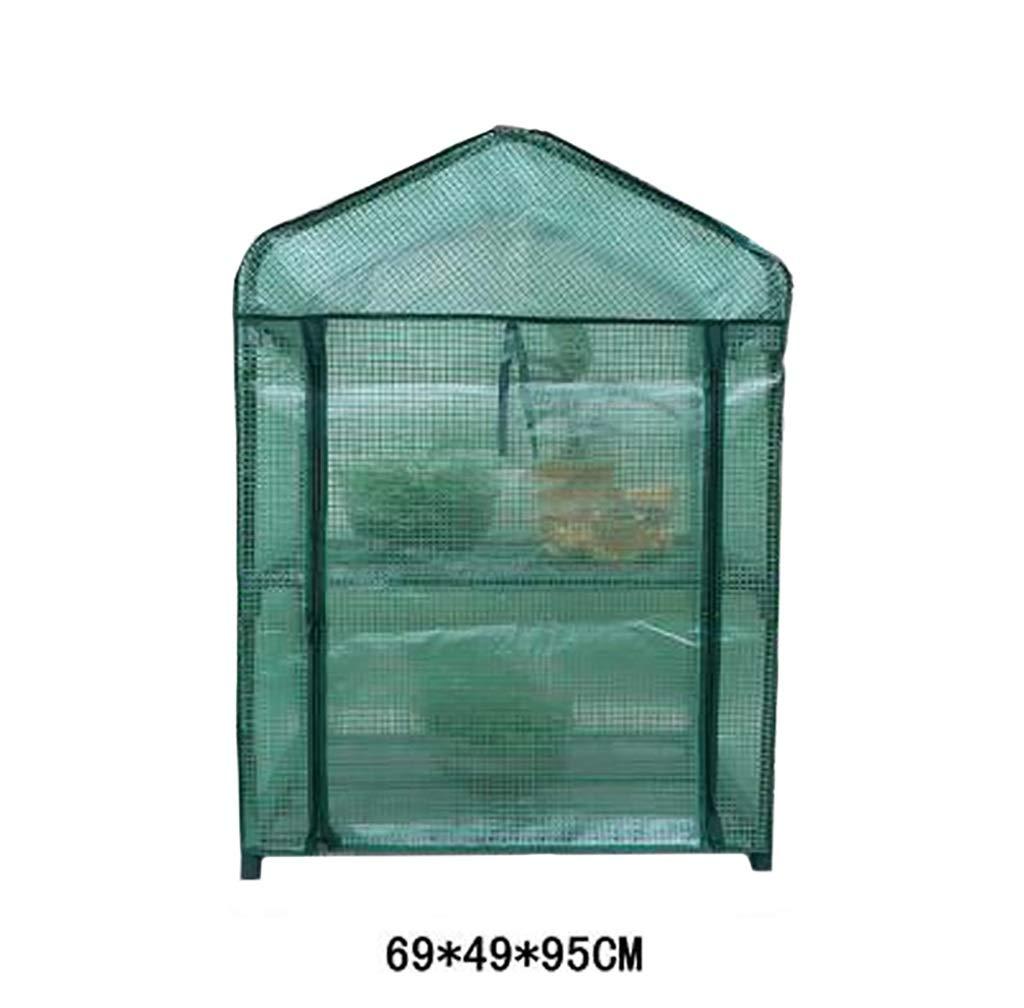 温室、植物はテント、2階建ての花は国内のバルコニー温室、シンプルな植物と花の植え付けの小屋サイズ:69 * 49 * 95センチメートル B07L5HY5V9