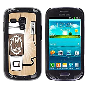 Dragon Case - FOR Samsung Galaxy S3 MINI 8190 - Time to charging - Caja protectora de pl??stico duro de la cubierta Dise?¡Ào Slim Fit