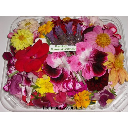 Edible Flower - Premium Assortment - 4 x 75-150 Count