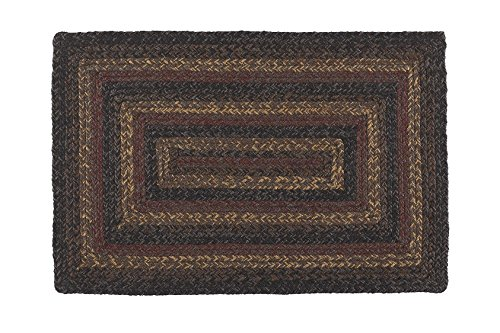 IHF Home Decor Rectangle Jute Braided Area Rug Floor Carpet 20 x 30 Inch Slate