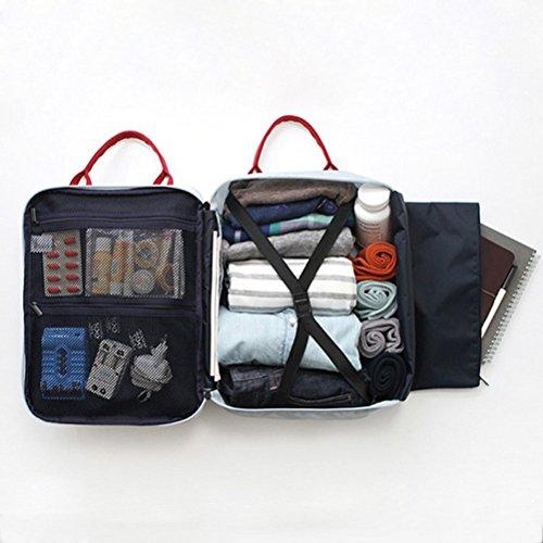 ULTNICE Reisetasche Schultertasche Handtasche - Marineblau