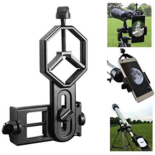 Shackcom Universal Teleskop Adapter Halterung für Smartphone, Kompatibel mit Fernglas Binokulares Monokular Spektiv und…