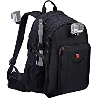 Smatree Multi-Function Backpack for 2 Gopro Hero 5/4/3/3+/Hero 5 Session/Hero Session Red-Brown