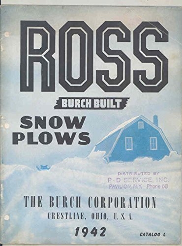 1936 1942 Ross Burch Ford Dodge Chevrolet Truck Tractor Snowplow - Burch Ford