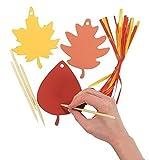 Colorful Paper Magic Color Scratch Leaves (48 Pieces)