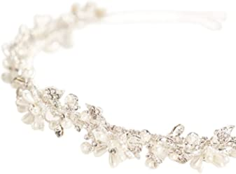 Crystal and Pearl Flower Bridal Headband Style HCT258
