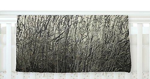 KESS InHouse Iris Lehnhardt Summer Grasses Neutral Gray Fleece Baby Blanket 40 x 30 [並行輸入品]   B077ZJ7VLQ