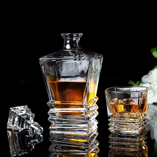 KANARS Crystal Whiskey Decanter And Glass Set With Luxury Gift Box - The Original Liquor Decanter Set For Scotch, Bourbon, Irish Whisky And Godmother Cocktail, 5-Piece by KANARS (Image #10)