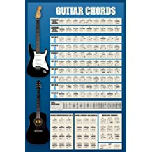 Guitar Chords, Music Poster Print, 24 by 36-Inch